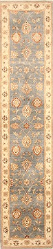 Pakistani Chobi Blue Runner 13 to 15 ft Wool Carpet 22498