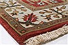 Isfahan Red Runner Hand Knotted 27 X 123  Area Rug 250-22502 Thumb 6