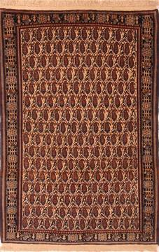 "Birjand Red Hand Knotted 4'6"" X 6'9""  Area Rug 100-22530"