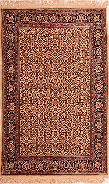 "Malayer Red Hand Knotted 4'7"" X 7'0""  Area Rug 100-22551"