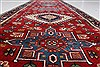 Karajeh Red Runner Hand Knotted 26 X 119  Area Rug 250-22557 Thumb 2
