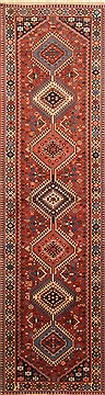 "Yalameh Red Runner Hand Knotted 2'8"" X 9'9""  Area Rug 250-22630"