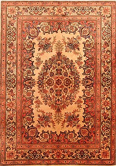 Persian Tabriz Red Rectangle 5x7 ft Wool Carpet 22680