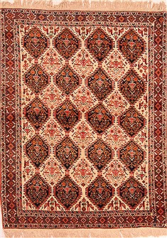 Persian Afshar Beige Rectangle 5x7 ft Wool Carpet 22705