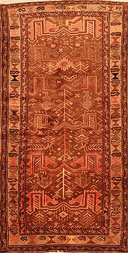 "Zanjan Brown Runner Hand Knotted 3'3"" X 6'3""  Area Rug 100-22711"
