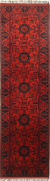 Pakistani Bokhara Red Runner 10 to 12 ft Wool Carpet 22723