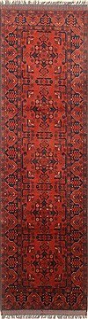 Pakistani Bokhara Red Runner 6 to 9 ft Wool Carpet 22726