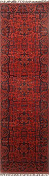 Pakistani Bokhara Red Runner 10 to 12 ft Wool Carpet 22734