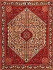 Abadeh Red Hand Knotted 411 X 66  Area Rug 100-22740 Thumb 0