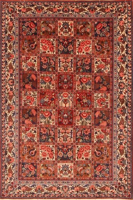 Persian Bakhtiar Multicolor Rectangle 5x7 Ft Wool Carpet