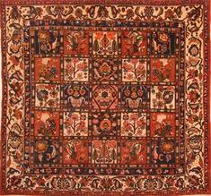"Bakhtiar Red Hand Knotted 6'5"" X 6'8""  Area Rug 100-22751"