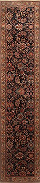 Indian Kashmir Blue Runner 10 to 12 ft Wool Carpet 22777