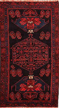 "Koliai Red Hand Knotted 4'0"" X 7'2""  Area Rug 100-22783"