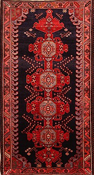"Bakhtiar Red Hand Knotted 5'7"" X 10'2""  Area Rug 100-22785"