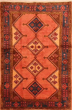 "Koliai Red Hand Knotted 4'10"" X 7'6""  Area Rug 100-22855"