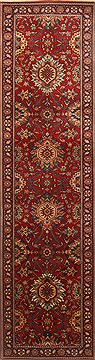 "Agra Red Runner Hand Knotted 2'7"" X 9'7""  Area Rug 250-22904"