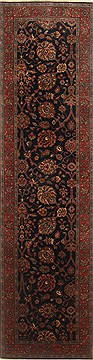 "Tabriz Blue Runner Hand Knotted 2'7"" X 10'0""  Area Rug 250-22958"