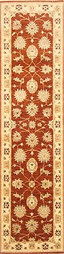 "Zanjan Brown Runner Hand Knotted 2'7"" X 9'11""  Area Rug 250-22991"