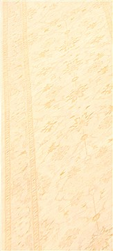 Pakistani Chobi Beige Runner 10 to 12 ft Wool Carpet 23007