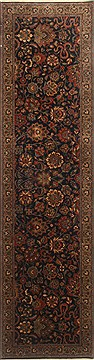Indian Isfahan Blue Runner 10 to 12 ft Wool Carpet 23011