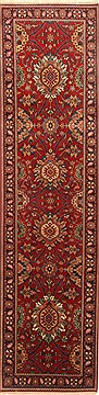 Indian Kashmir Red Runner 10 to 12 ft Wool Carpet 23014
