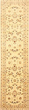 Pakistani Chobi Beige Runner 10 to 12 ft Wool Carpet 23034
