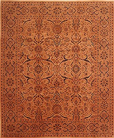 "Tabriz Yellow Hand Knotted 8'2"" X 9'9""  Area Rug 100-23059"