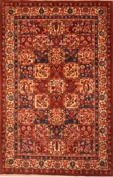 "Bakhtiar Red Hand Knotted 6'8"" X 10'3""  Area Rug 100-23061"