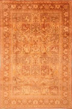 "Bakhtiar Yellow Hand Knotted 6'8"" X 10'0""  Area Rug 100-23067"