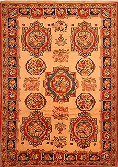"Bakhtiar Brown Hand Knotted 7'3"" X 10'2""  Area Rug 100-23078"