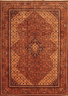 "Tabriz Brown Hand Knotted 6'6"" X 9'1""  Area Rug 100-23080"