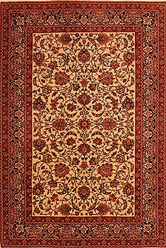 "Tabriz Red Hand Knotted 6'7"" X 9'10""  Area Rug 100-23098"