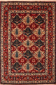 "Persian Bakhtiar  Wool Red Area Rug  (6'9"" x 10'2"") - 253 - 23100"
