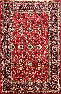 Persian Kashan Red Rectangle 7x10 ft Wool Carpet 23102