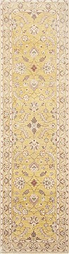 Pakistani Chobi Yellow Runner 10 to 12 ft Wool Carpet 23111