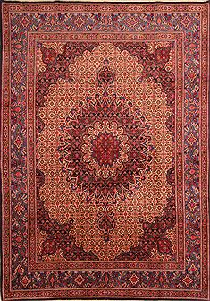 Persian Mood Red Rectangle 7x10 ft Wool Carpet 23117