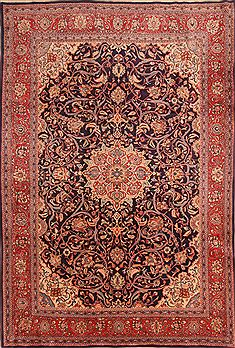 "Sarouk Red Hand Knotted 7'2"" X 10'6""  Area Rug 100-23118"