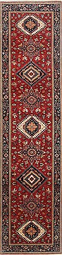 "Karajeh Red Runner Hand Knotted 2'6"" X 10'0""  Area Rug 250-23119"