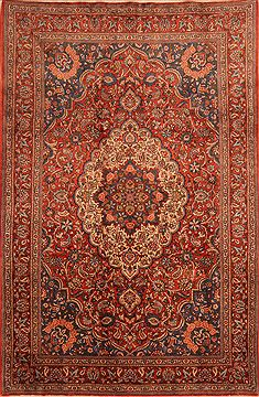 "Bakhtiar Red Hand Knotted 6'10"" X 10'4""  Area Rug 100-23123"