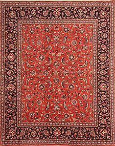 "Persian Kashan  Wool Red Area Rug  (6'6"" x 8'2"") - 253 - 23124"