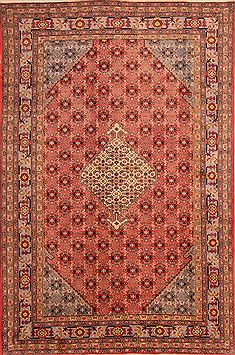 "Ardebil Red Hand Knotted 6'3"" X 9'6""  Area Rug 100-23139"