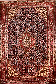 "Tabriz Red Hand Knotted 6'11"" X 10'6""  Area Rug 100-23141"
