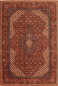 Romania Tabriz Brown Rectangle 6x9 ft Wool Carpet 23143
