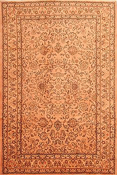 "Tabriz Yellow Hand Knotted 6'6"" X 9'10""  Area Rug 100-23174"
