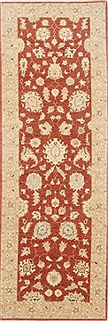 Pakistani Chobi Brown Runner 6 to 9 ft Wool Carpet 23186