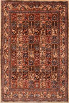 Persian Mood Multicolor Rectangle 7x10 ft Wool Carpet 23193