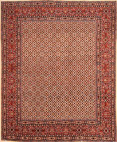 Persian Mood Red Square 7 to 8 ft Wool Carpet 23224