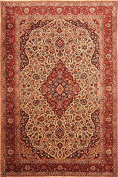 "Shahsavan Yellow Hand Knotted 6'9"" X 9'10""  Area Rug 100-23236"