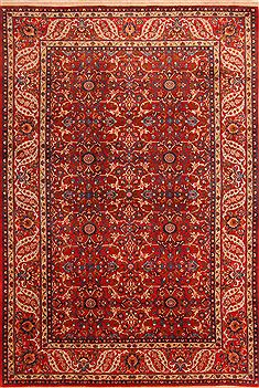"Isfahan Red Hand Knotted 6'10"" X 10'0""  Area Rug 100-23240"