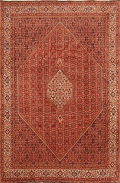"Bidjar Orange Hand Knotted 6'6"" X 9'11""  Area Rug 100-23244"